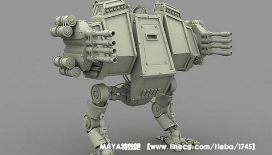 maya科幻机器人