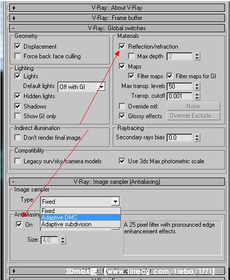 关于自动光子图参数,渲染