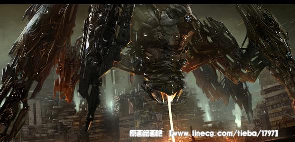ps手绘——邪恶的机械战甲