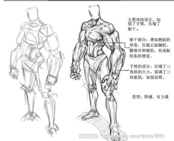 游戏原画中人物型体型设计