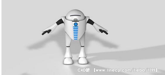 c4d 机器人建模练习 求围观