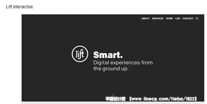 国外黑白灰配色的网页设计