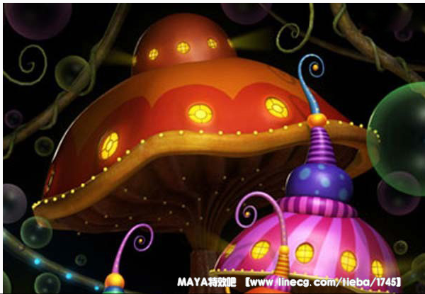 maya制作卡通游乐园场景