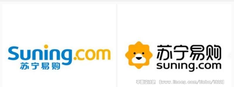 新的 logo 中狮子的嘴部是一朵云的形状,表达苏宁易购线下与线上统一