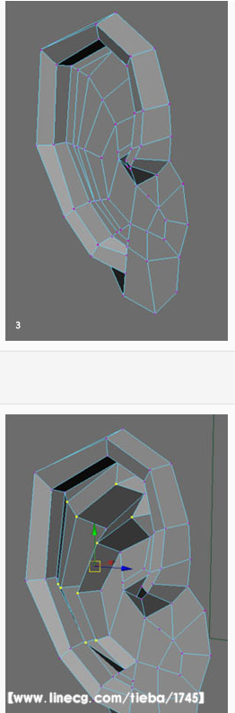 maya建模 人耳朵的建模方法