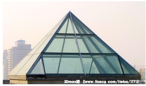 这个玻璃金字塔怎么建模?