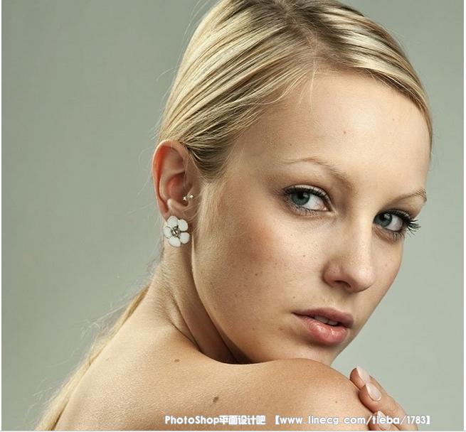 【教程】photoshop快速的给美女人像照片磨皮美白
