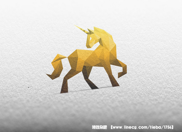 精选低多边形风格动物logo设计欣赏