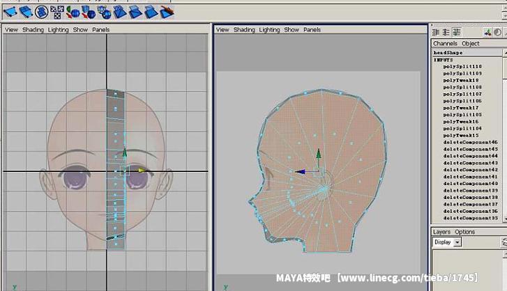 maya 建模教程 卡通人头简单建模图片