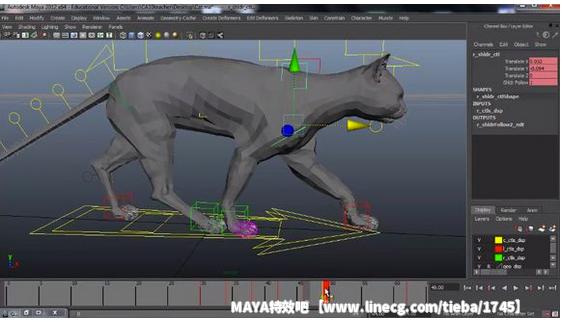 梦工厂首席角色动画师 - maya四足动物循环走路动画教程