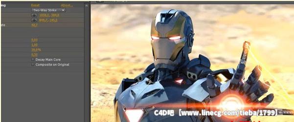 c4d钢铁侠建模绑定和后期动画特效制作视频教程