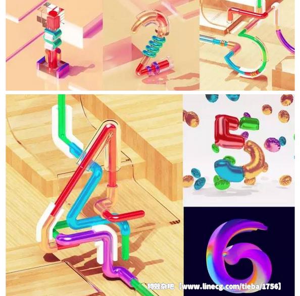 创意独特的英文字体设计欣赏 - 特效杂吧吧 - 直线网