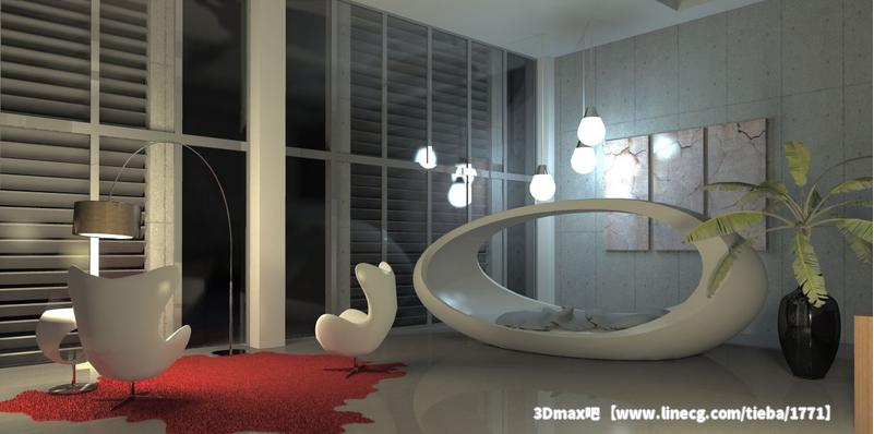 室内 手绘材质 高光