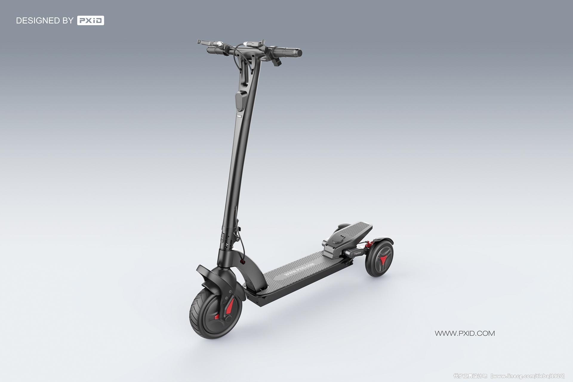 品向工业设计 电动三轮滑板车设计_代步工具设计吧吧
